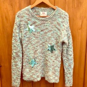 Justice Girls Sweater / Teal&Grey/ Sz 16